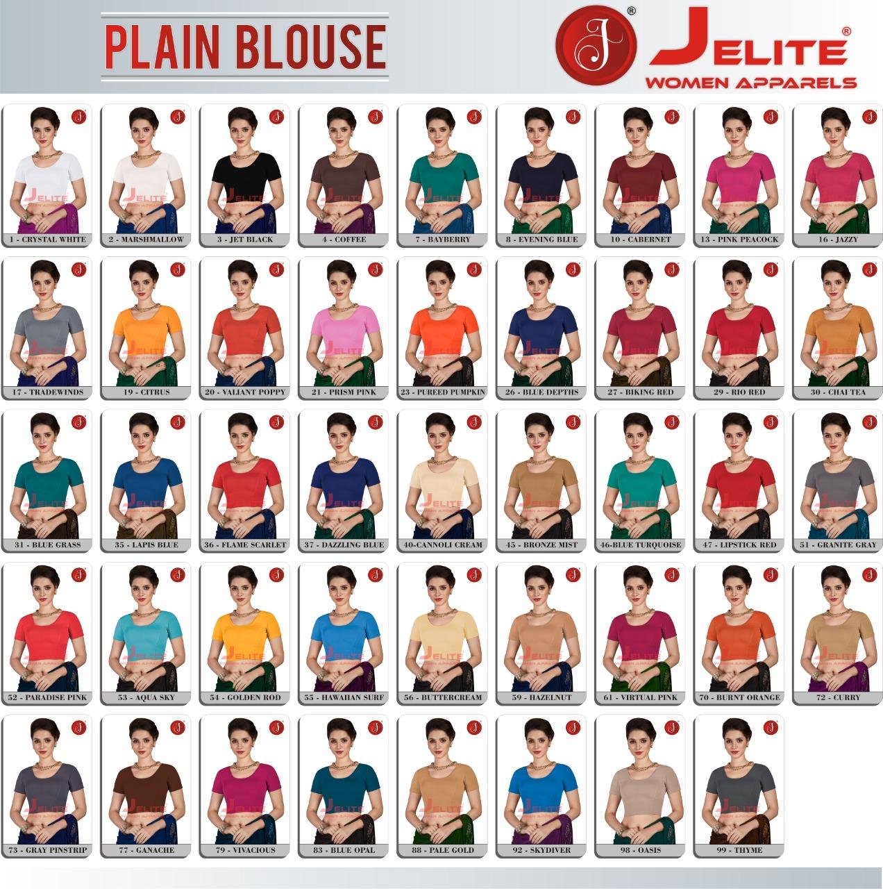 Jelite Blouse Vol 1 Wholesale Catalog 13 Pcs 14 1 - Jelite Blouse Vol 3 Half Net Wholesale Catalog 8 Pcs
