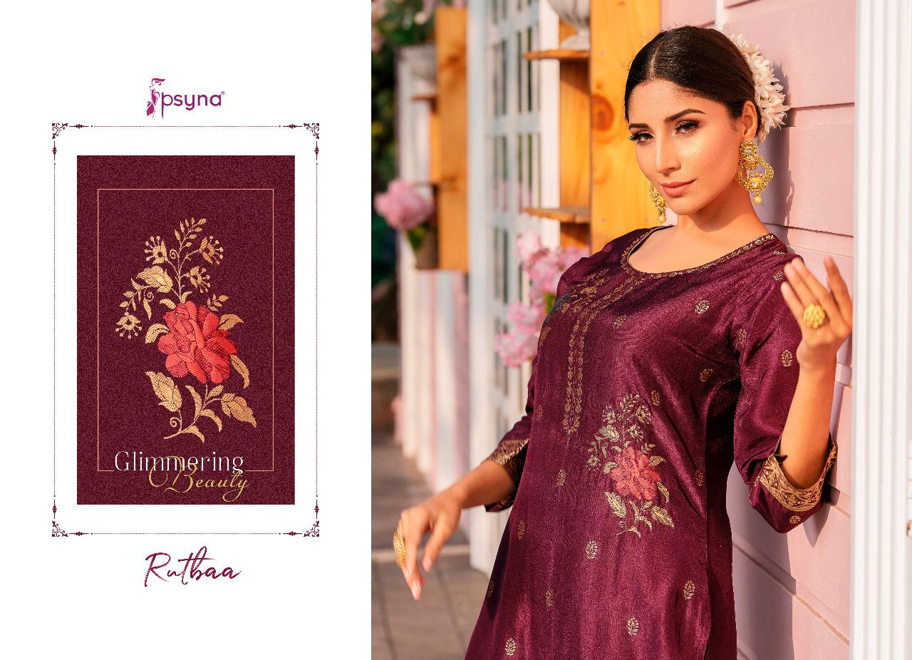 Psyna Rutbaa Kurti with Palazzo Wholesale Catalog 5 Pcs 3 - Psyna Rutbaa Kurti with Palazzo Wholesale Catalog 5 Pcs