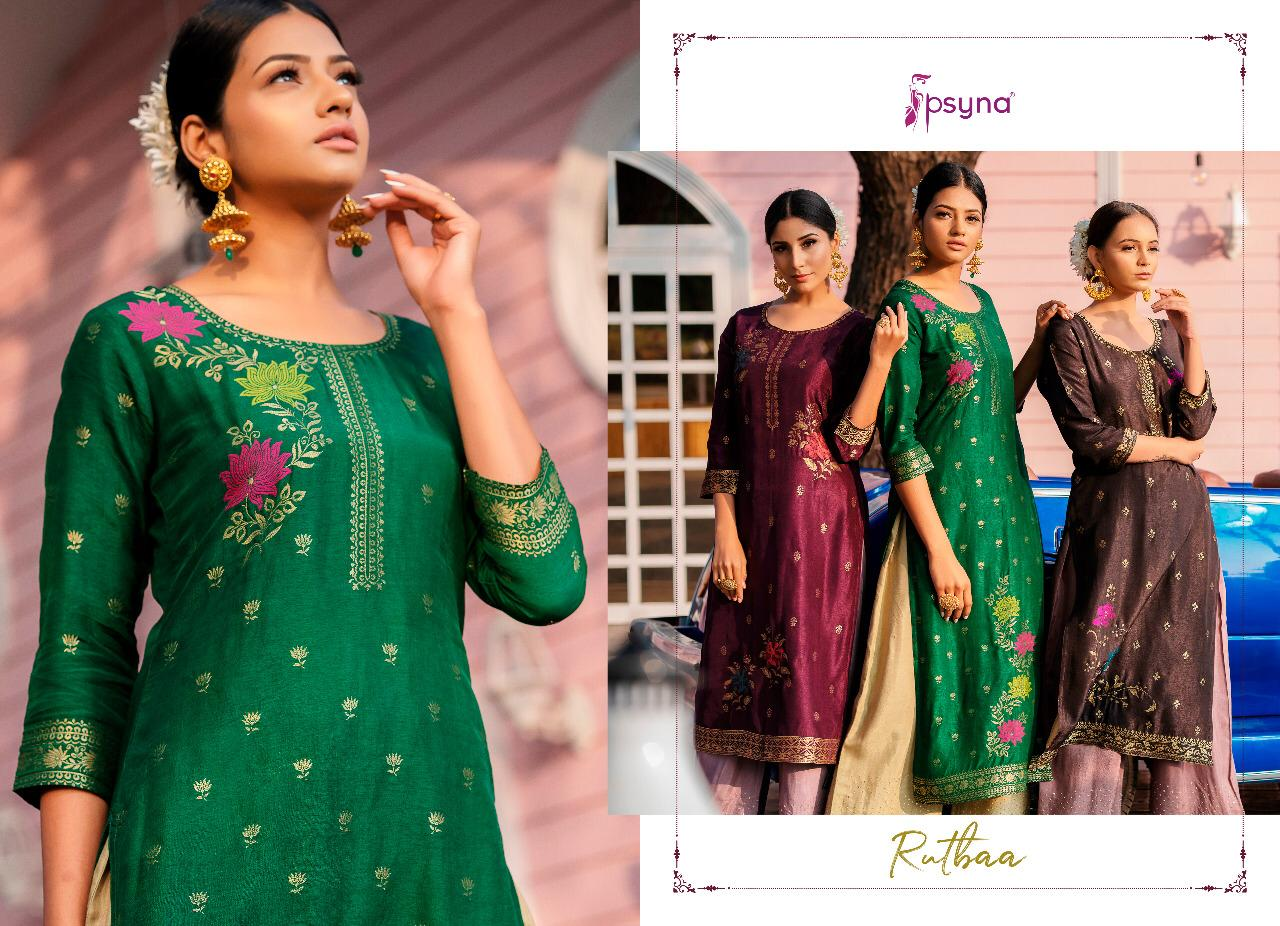 Psyna Rutbaa Kurti with Palazzo Wholesale Catalog 5 Pcs 5 - Psyna Rutbaa Kurti with Palazzo Wholesale Catalog 5 Pcs