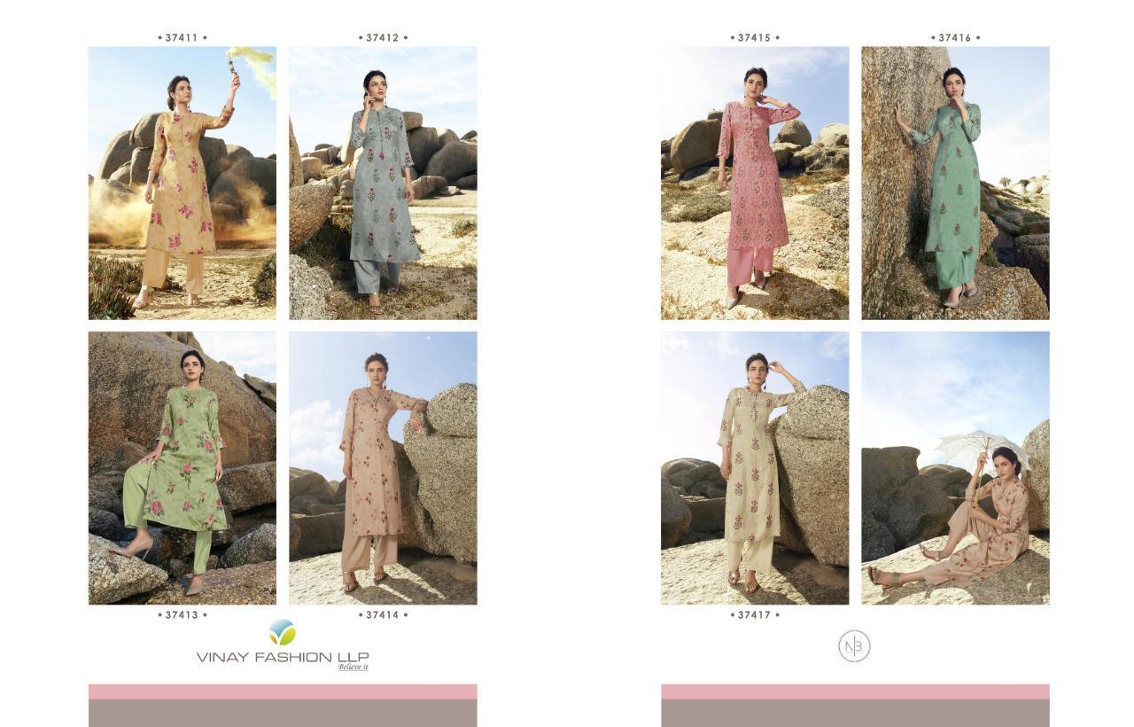 Vinay Tumbaa Trending Kurti with Palazzo Wholesale Catalog 7 Pcs 13 - Vinay Tumbaa Trending Kurti with Palazzo Wholesale Catalog 7 Pcs