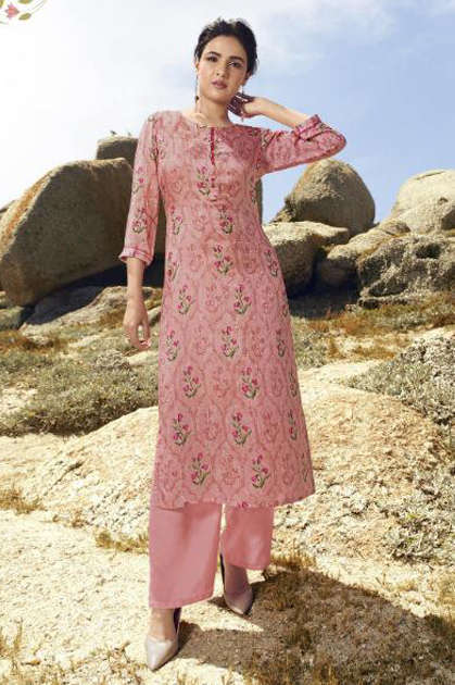 Vinay Tumbaa Trending Kurti with Palazzo Wholesale Catalog 7 Pcs