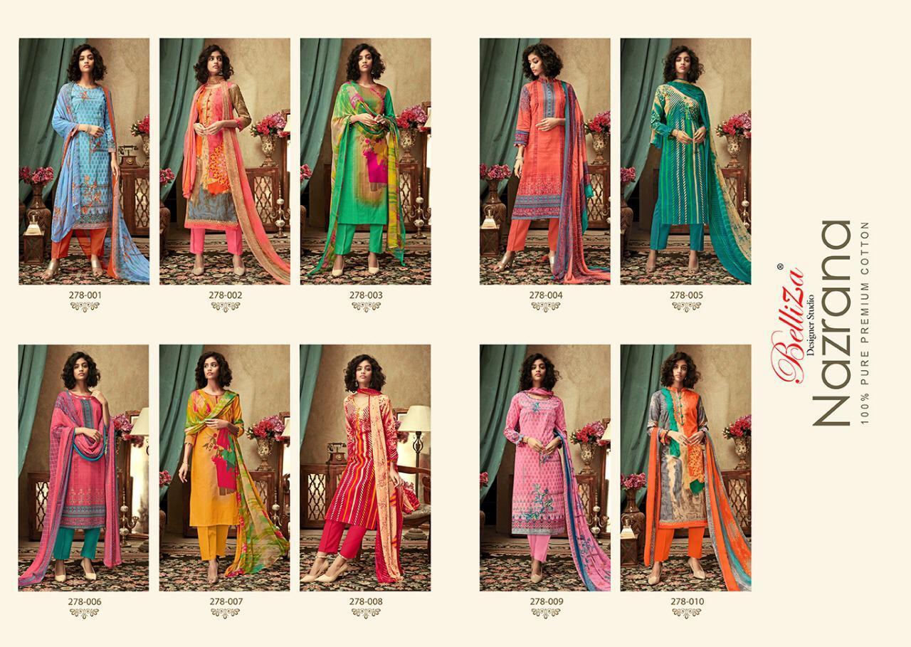 Belliza Nazrana Vol 10 Salwar Suit Wholesale Catalog 10 Pcs 13 - Belliza Nazrana Vol 10 Salwar Suit Wholesale Catalog 10 Pcs
