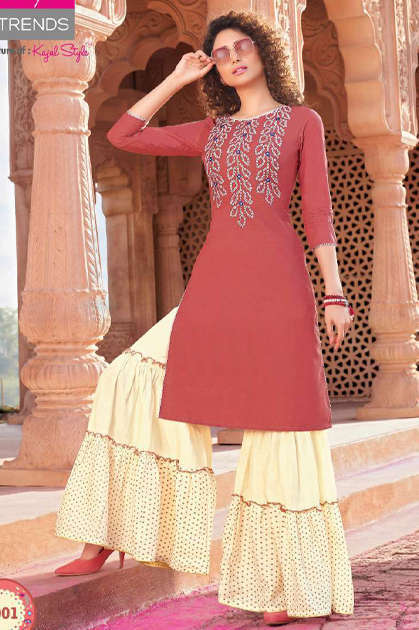 Diya Trends Bandhej Vol 1 by Kajal Style Kurti with Palazzo or Skirt or Sharara or Pant Wholesale Catalog 12 Pcs - Diya Trends Bandhej Vol 1 by Kajal Style Kurti with Palazzo or Skirt or Sharara or Pant Wholesale Catalog 12 Pcs