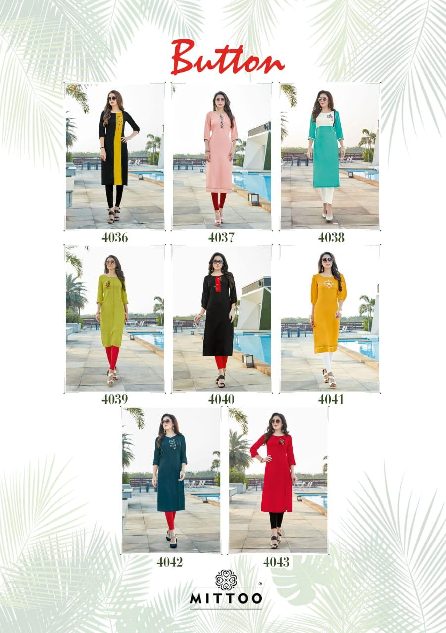 Mittoo Button Kurti Wholesale Catalog 8 Pcs 11 - Mittoo Button Kurti Wholesale Catalog 8 Pcs