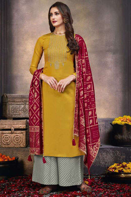 Mumtaz Arts Lamhe Salwar Suit Wholesale Catalog 5 Pcs - Mumtaz Arts Lamhe Salwar Suit Wholesale Catalog 5 Pcs