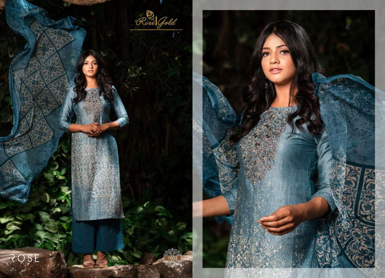 Rvee Gold Rose Salwar Suit Wholesale Catalog 10 Pcs 1 - Rvee Gold Rose Salwar Suit Wholesale Catalog 10 Pcs