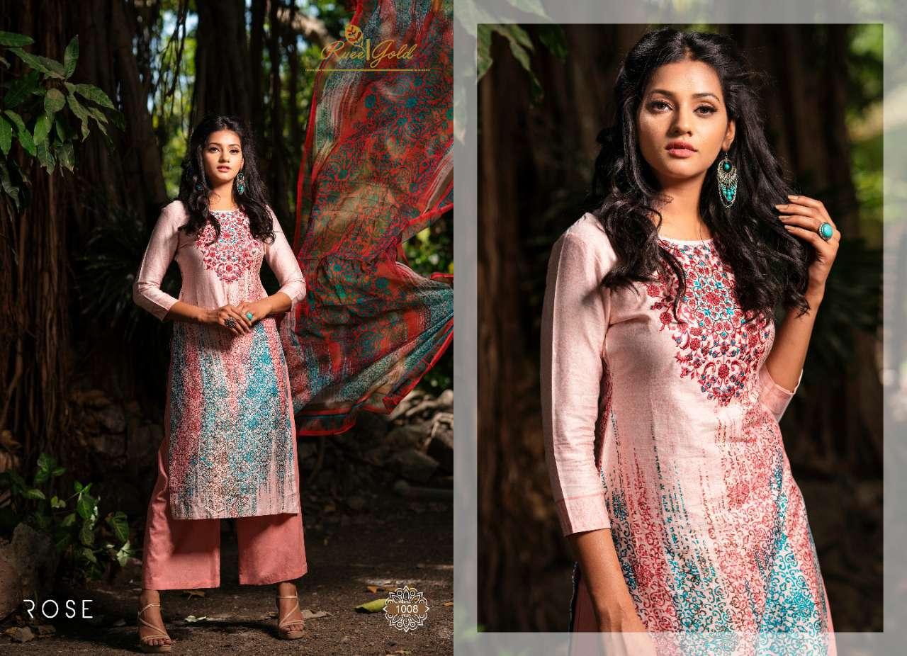 Rvee Gold Rose Salwar Suit Wholesale Catalog 10 Pcs 10 - Rvee Gold Rose Salwar Suit Wholesale Catalog 10 Pcs