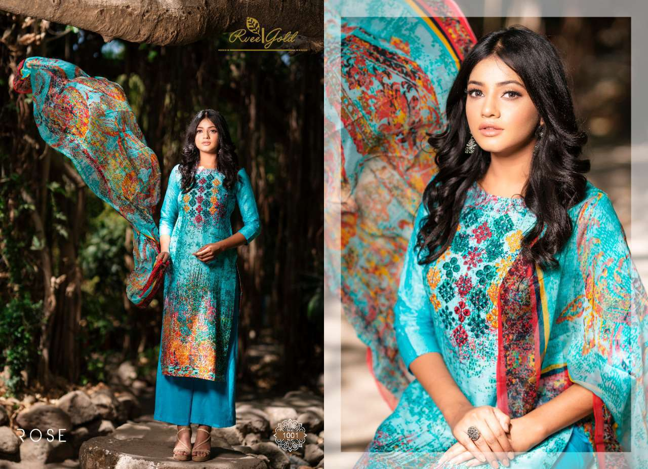 Rvee Gold Rose Salwar Suit Wholesale Catalog 10 Pcs 3 - Rvee Gold Rose Salwar Suit Wholesale Catalog 10 Pcs