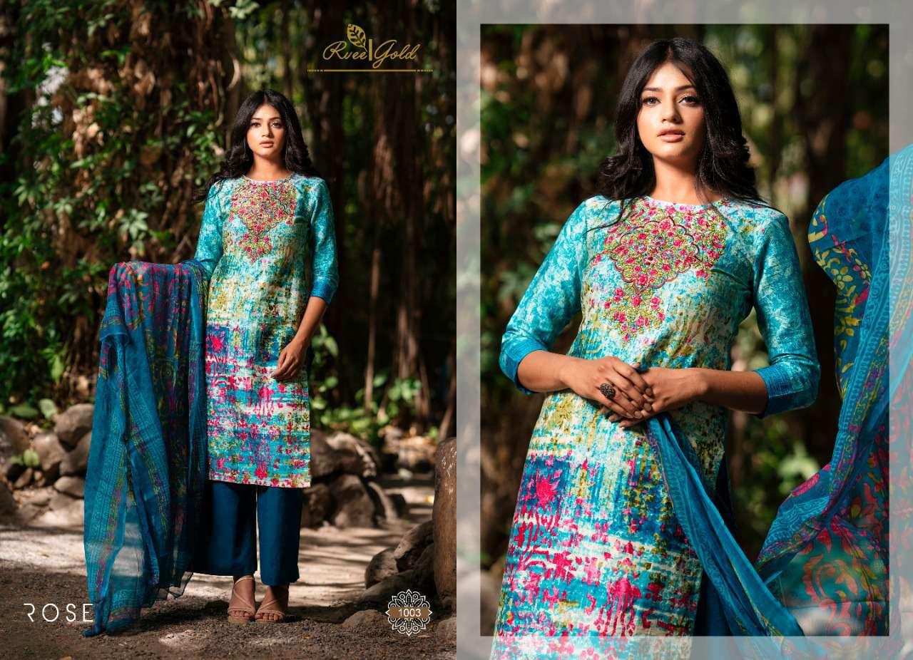 Rvee Gold Rose Salwar Suit Wholesale Catalog 10 Pcs 4 - Rvee Gold Rose Salwar Suit Wholesale Catalog 10 Pcs