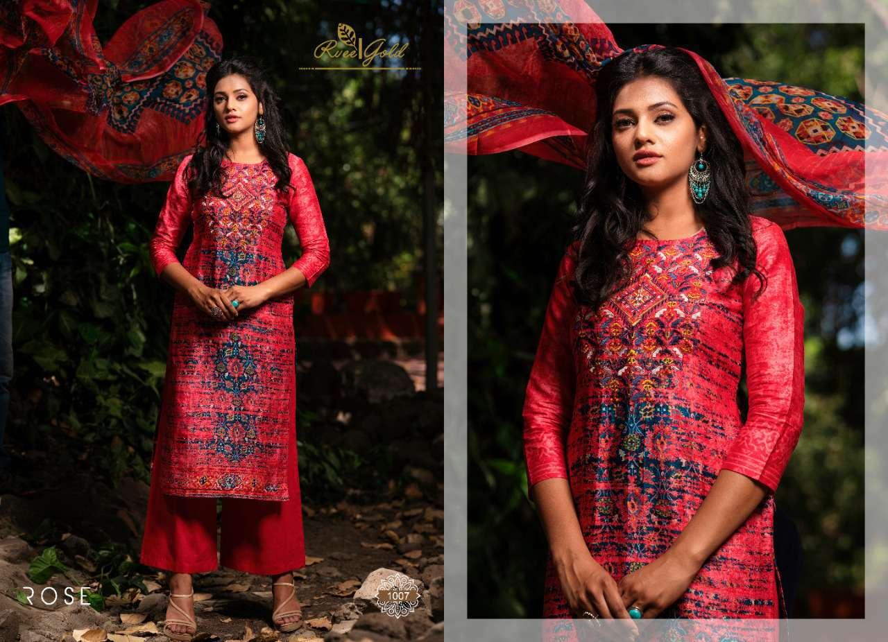 Rvee Gold Rose Salwar Suit Wholesale Catalog 10 Pcs 5 - Rvee Gold Rose Salwar Suit Wholesale Catalog 10 Pcs