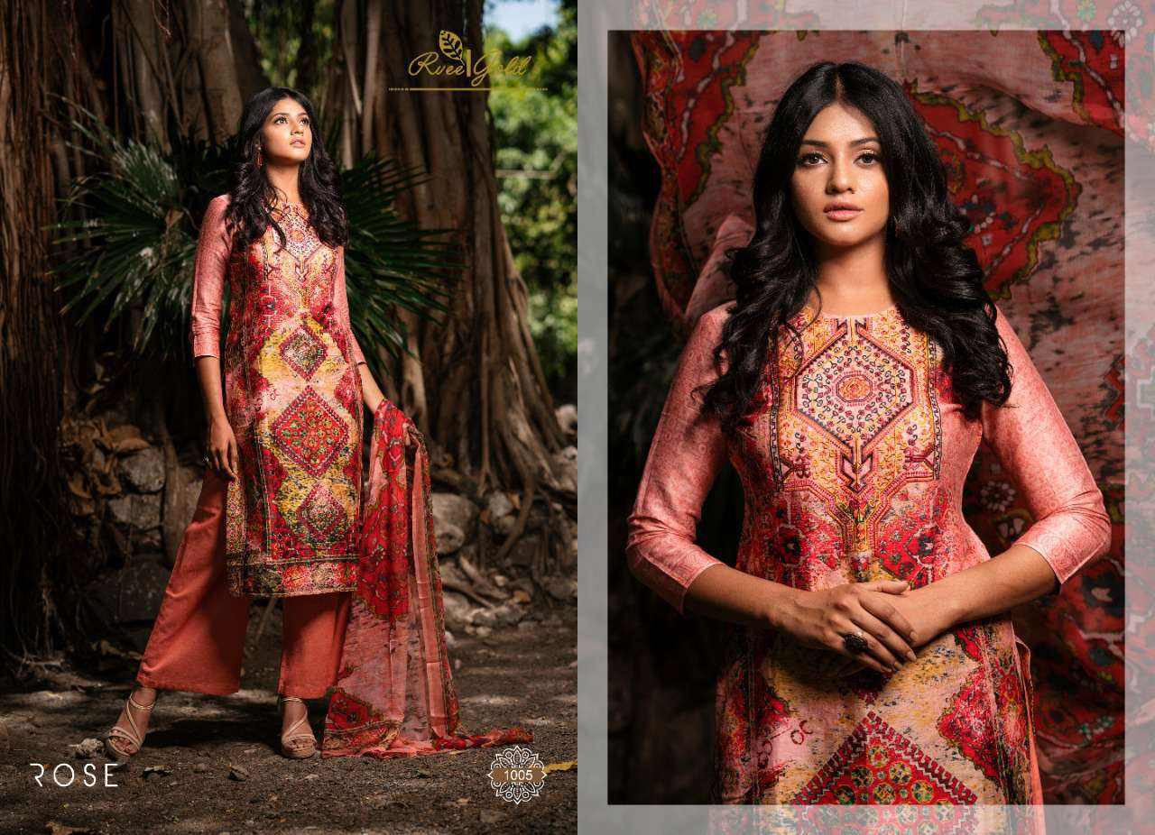Rvee Gold Rose Salwar Suit Wholesale Catalog 10 Pcs 6 - Rvee Gold Rose Salwar Suit Wholesale Catalog 10 Pcs