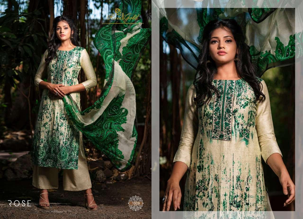 Rvee Gold Rose Salwar Suit Wholesale Catalog 10 Pcs 9 - Rvee Gold Rose Salwar Suit Wholesale Catalog 10 Pcs