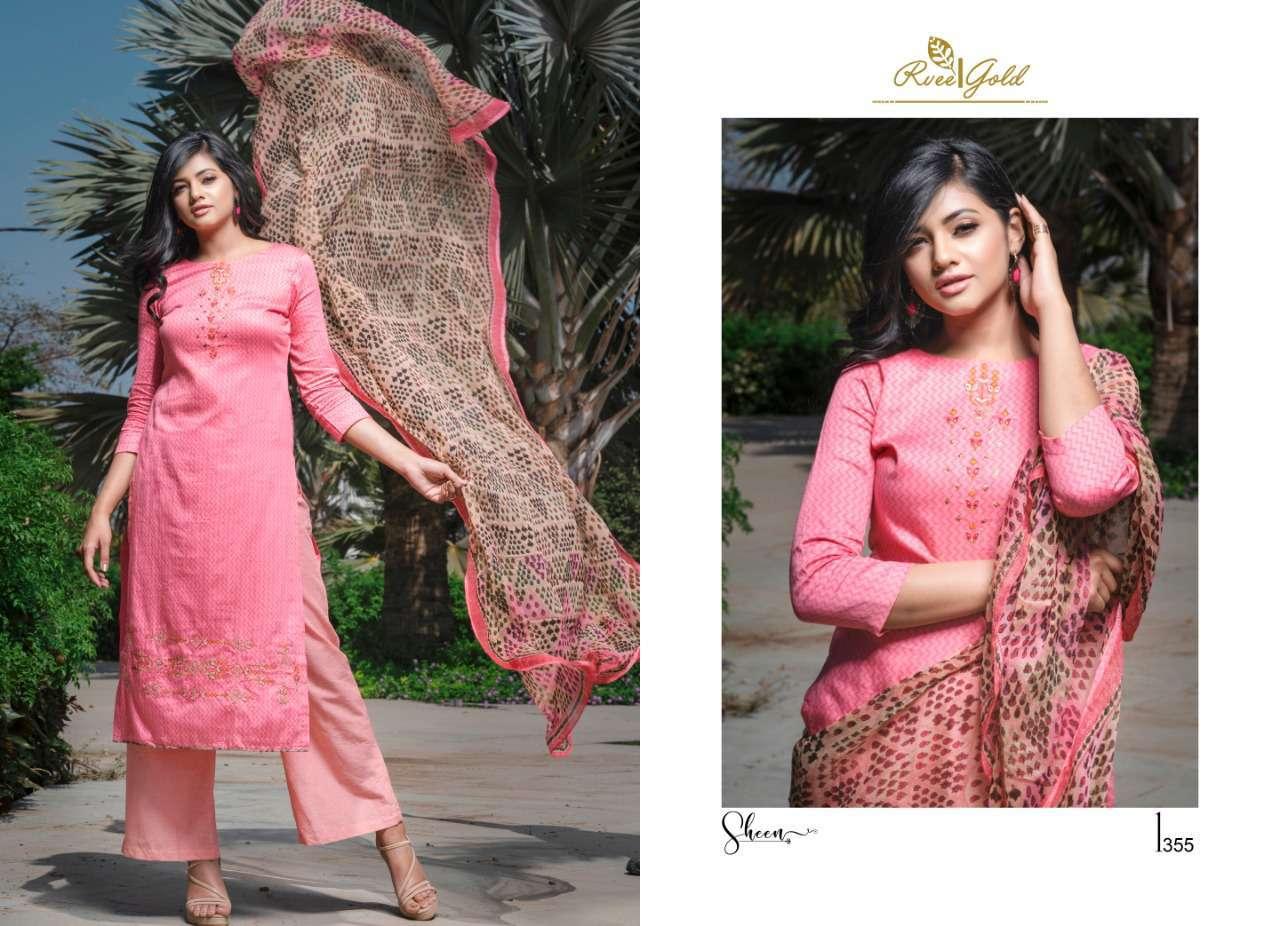 Rvee Gold Sheen Salwar Suit Wholesale Catalog 9 Pcs 1 - Rvee Gold Sheen Salwar Suit Wholesale Catalog 9 Pcs