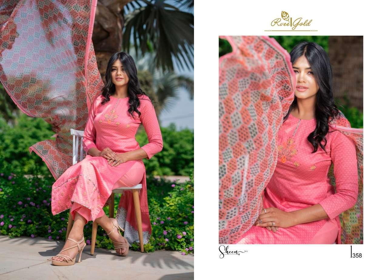 Rvee Gold Sheen Salwar Suit Wholesale Catalog 9 Pcs 4 - Rvee Gold Sheen Salwar Suit Wholesale Catalog 9 Pcs