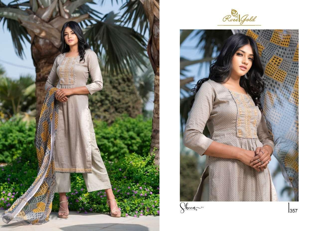 Rvee Gold Sheen Salwar Suit Wholesale Catalog 9 Pcs 5 - Rvee Gold Sheen Salwar Suit Wholesale Catalog 9 Pcs