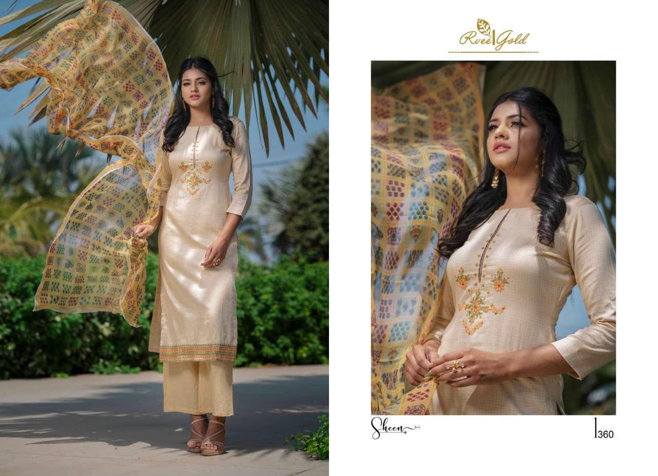 Rvee Gold Sheen Salwar Suit Wholesale Catalog 9 Pcs 7 - Rvee Gold Sheen Salwar Suit Wholesale Catalog 9 Pcs