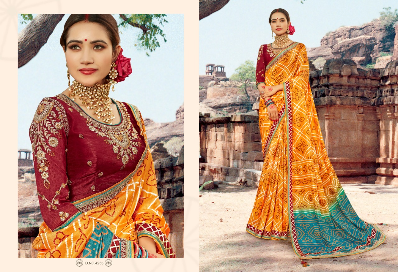 Kessi Bandhej Hits Saree Sari Wholesale Catalog 10 Pcs 10 2 - Kessi Bandhej Hits Saree Sari Wholesale Catalog 10 Pcs