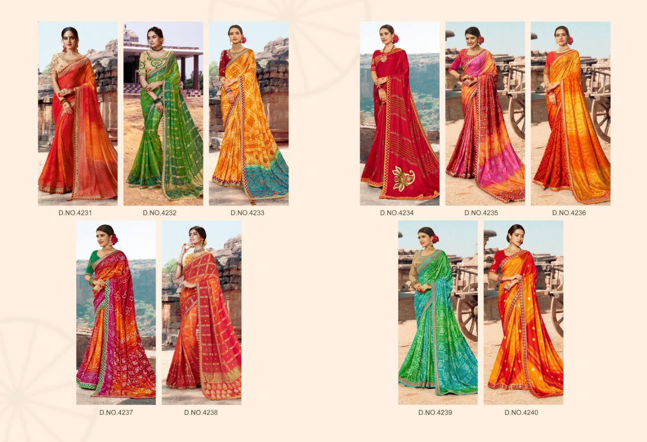 Kessi Bandhej Hits Saree Sari Wholesale Catalog 10 Pcs 11 2 - Kessi Bandhej Hits Saree Sari Wholesale Catalog 10 Pcs