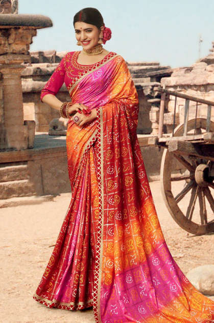 Kessi Bandhej Hits Saree Sari Wholesale Catalog 10 Pcs 15 - Kessi Bandhej Hits Saree Sari Wholesale Catalog 10 Pcs