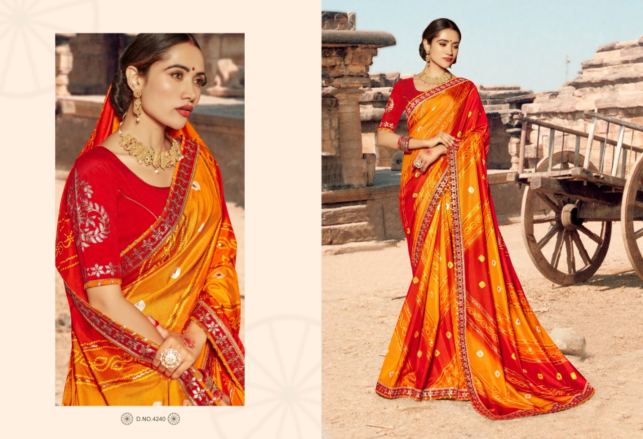 Kessi Bandhej Hits Saree Sari Wholesale Catalog 10 Pcs 3 2 - Kessi Bandhej Hits Saree Sari Wholesale Catalog 10 Pcs