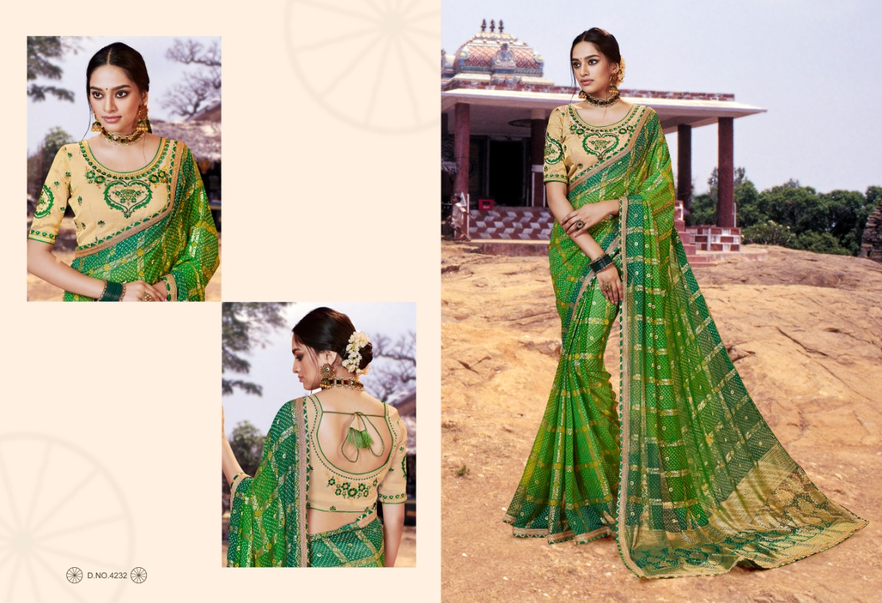 Kessi Bandhej Hits Saree Sari Wholesale Catalog 10 Pcs 4 2 - Kessi Bandhej Hits Saree Sari Wholesale Catalog 10 Pcs