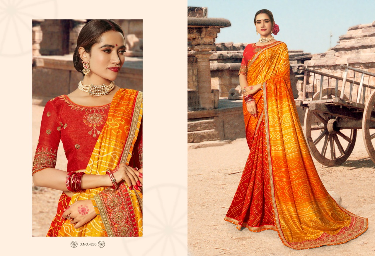 Kessi Bandhej Hits Saree Sari Wholesale Catalog 10 Pcs 6 2 - Kessi Bandhej Hits Saree Sari Wholesale Catalog 10 Pcs