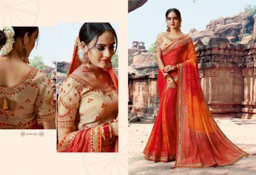 Kessi Bandhej Hits Saree Sari Wholesale Catalog 10 Pcs 7 2 510x349 - Kessi Bandhej Hits Saree Sari Wholesale Catalog 10 Pcs