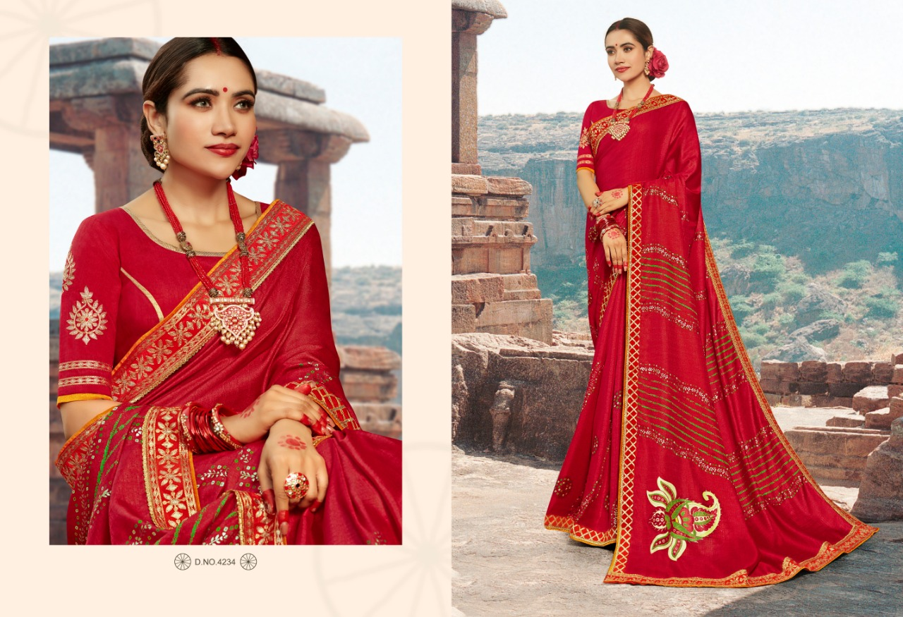 Kessi Bandhej Hits Saree Sari Wholesale Catalog 10 Pcs 8 2 - Kessi Bandhej Hits Saree Sari Wholesale Catalog 10 Pcs