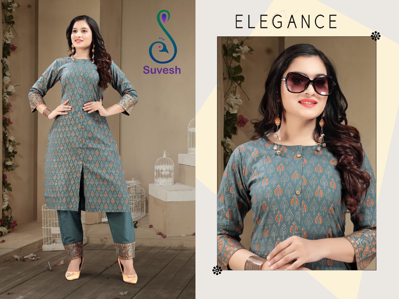 Suvesh Tanisha Kurti with Pant Wholesale Catalog 5 Pcs 3 - Suvesh Tanisha Kurti with Pant Wholesale Catalog 5 Pcs