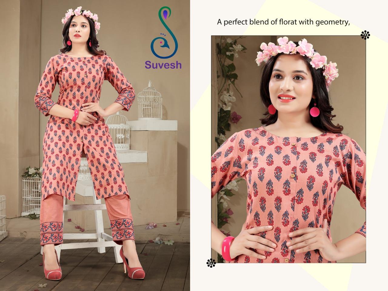 Suvesh Tanisha Kurti with Pant Wholesale Catalog 5 Pcs 4 - Suvesh Tanisha Kurti with Pant Wholesale Catalog 5 Pcs