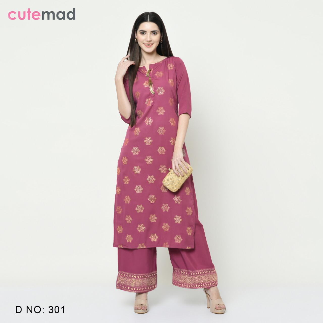 Cutemad Vol 3 Kurti with Palazzo Wholesale Catalog 8 Pcs 3 - Cutemad Vol 3 Kurti with Palazzo Wholesale Catalog 8 Pcs