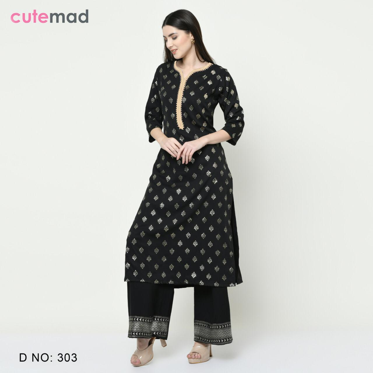 Cutemad Vol 3 Kurti with Palazzo Wholesale Catalog 8 Pcs 4 - Cutemad Vol 3 Kurti with Palazzo Wholesale Catalog 8 Pcs