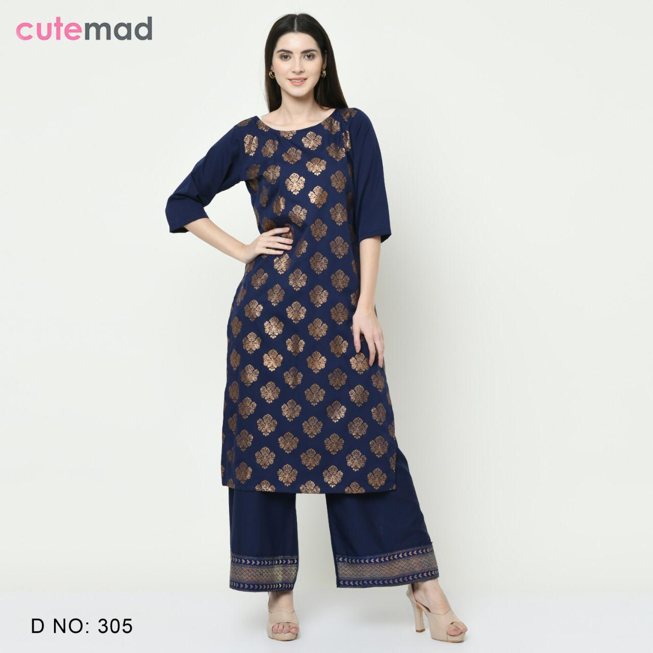Cutemad Vol 3 Kurti with Palazzo Wholesale Catalog 8 Pcs 6 - Cutemad Vol 3 Kurti with Palazzo Wholesale Catalog 8 Pcs