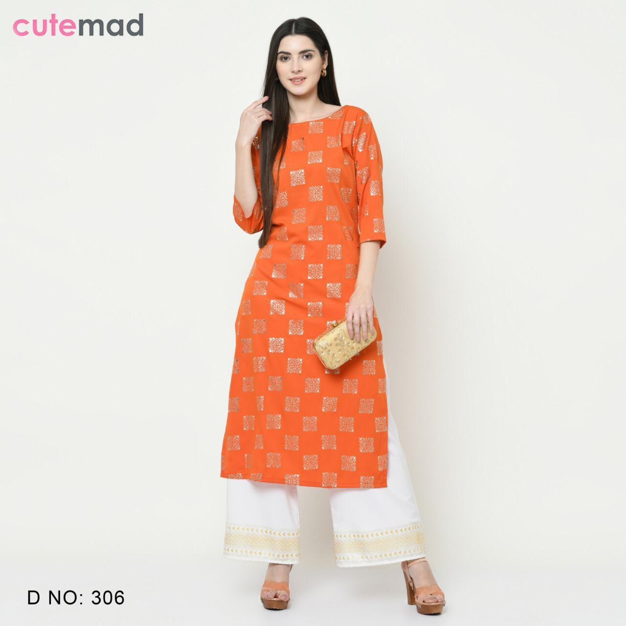 Cutemad Vol 3 Kurti with Palazzo Wholesale Catalog 8 Pcs 7 - Cutemad Vol 3 Kurti with Palazzo Wholesale Catalog 8 Pcs