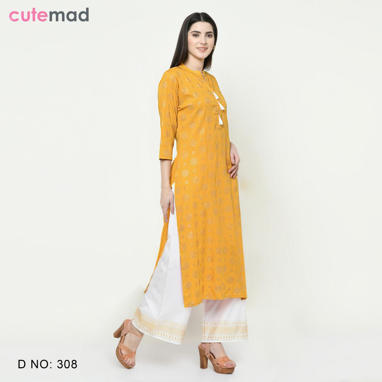 Cutemad Vol 3 Kurti with Palazzo Wholesale Catalog 8 Pcs 8 - Cutemad Vol 3 Kurti with Palazzo Wholesale Catalog 8 Pcs