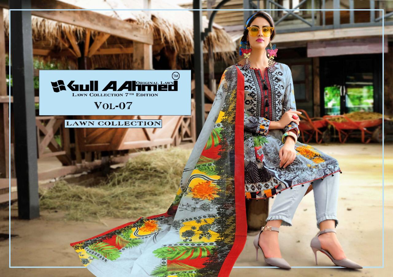 Gull AAhmed Vol 7 Lawn Colletion Salwar Suit Wholesale Catalog 10 Pcs 1 - Gull AAhmed Vol 7 Lawn Colletion Salwar Suit Wholesale Catalog  10 Pcs
