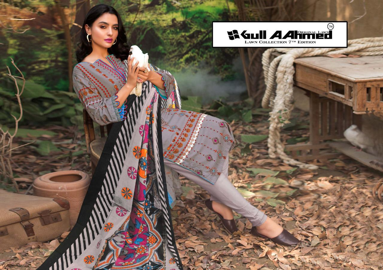 Gull AAhmed Vol 7 Lawn Colletion Salwar Suit Wholesale Catalog 10 Pcs 11 - Gull AAhmed Vol 7 Lawn Colletion Salwar Suit Wholesale Catalog  10 Pcs