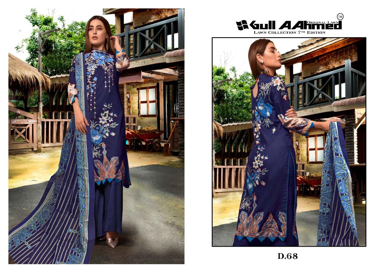 Gull AAhmed Vol 7 Lawn Colletion Salwar Suit Wholesale Catalog 10 Pcs 14 - Gull AAhmed Vol 7 Lawn Colletion Salwar Suit Wholesale Catalog  10 Pcs