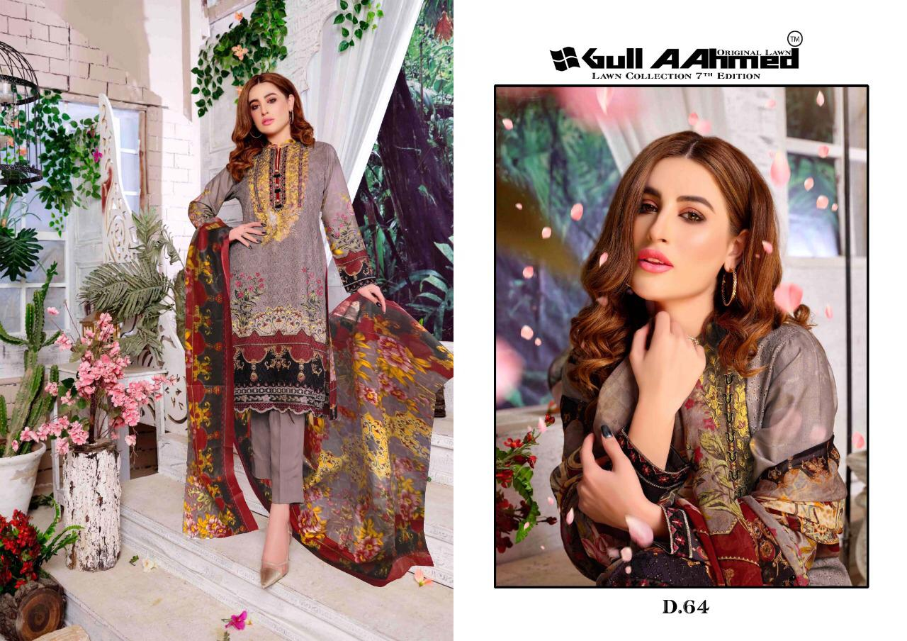 Gull AAhmed Vol 7 Lawn Colletion Salwar Suit Wholesale Catalog 10 Pcs 5 - Gull AAhmed Vol 7 Lawn Colletion Salwar Suit Wholesale Catalog  10 Pcs