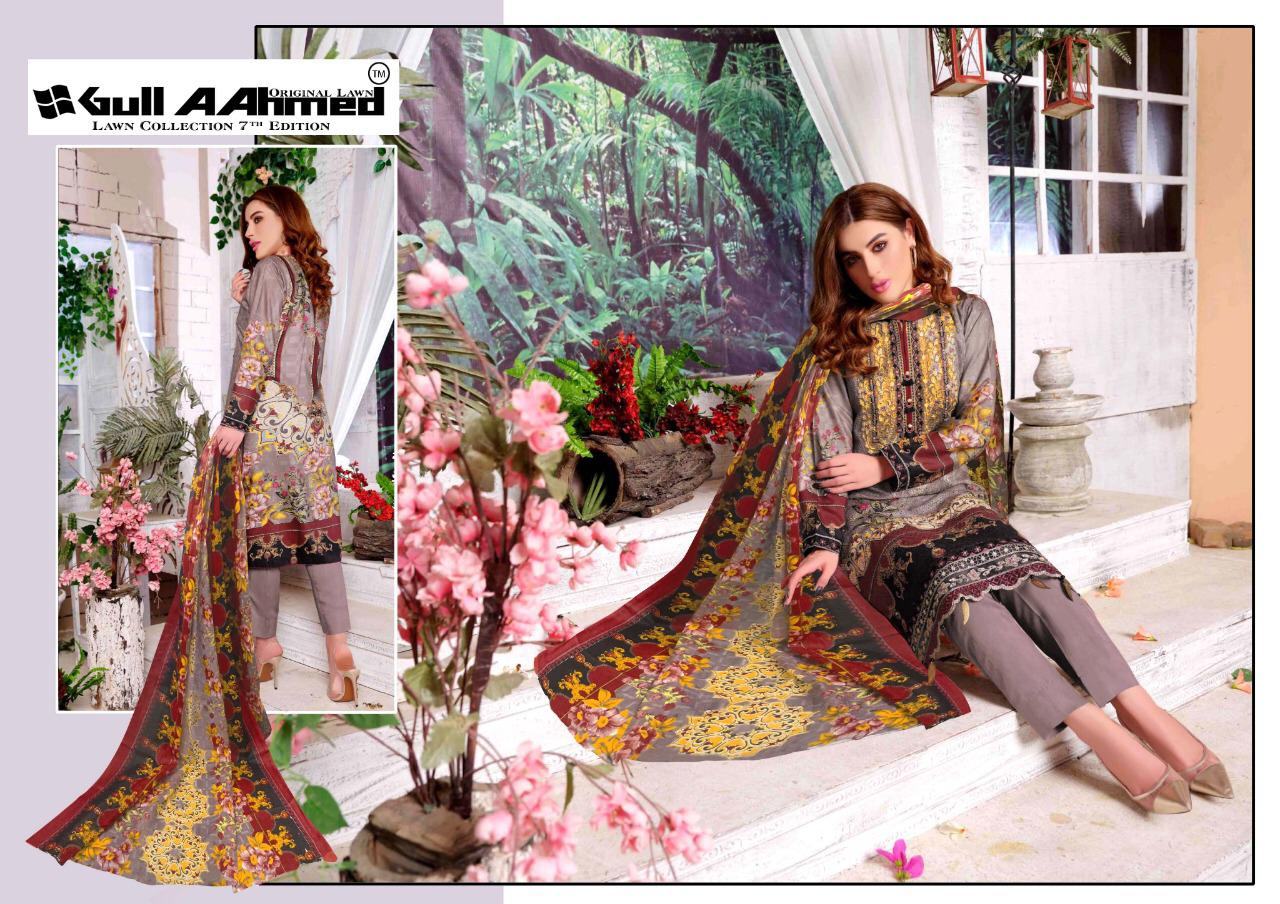 Gull AAhmed Vol 7 Lawn Colletion Salwar Suit Wholesale Catalog 10 Pcs 6 - Gull AAhmed Vol 7 Lawn Colletion Salwar Suit Wholesale Catalog  10 Pcs