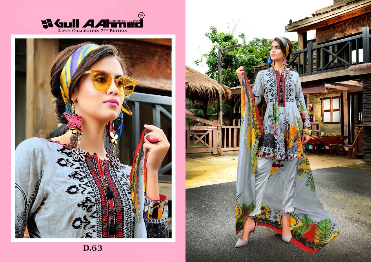 Gull AAhmed Vol 7 Lawn Colletion Salwar Suit Wholesale Catalog 10 Pcs 8 - Gull AAhmed Vol 7 Lawn Colletion Salwar Suit Wholesale Catalog  10 Pcs