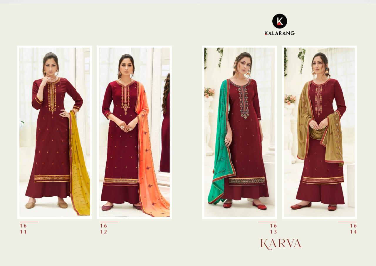 Kalarang Karva by Kessi Salwar Suit Wholesale Catalog 4 Pcs 6 - Kalarang Karva by Kessi Salwar Suit Wholesale Catalog 4 Pcs