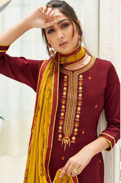 Kalarang Karva by Kessi Salwar Suit Wholesale Catalog 4 Pcs