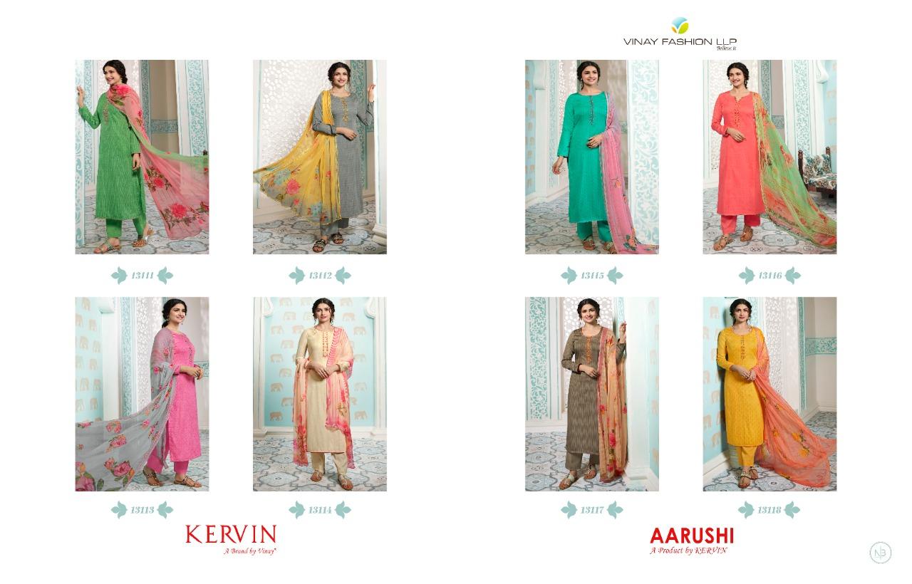 Kervin Aarushi by Vinay Salwar Suit Wholesale Catalog 8 Pcs 11 - Kervin Aarushi by Vinay Salwar Suit Wholesale Catalog 8 Pcs