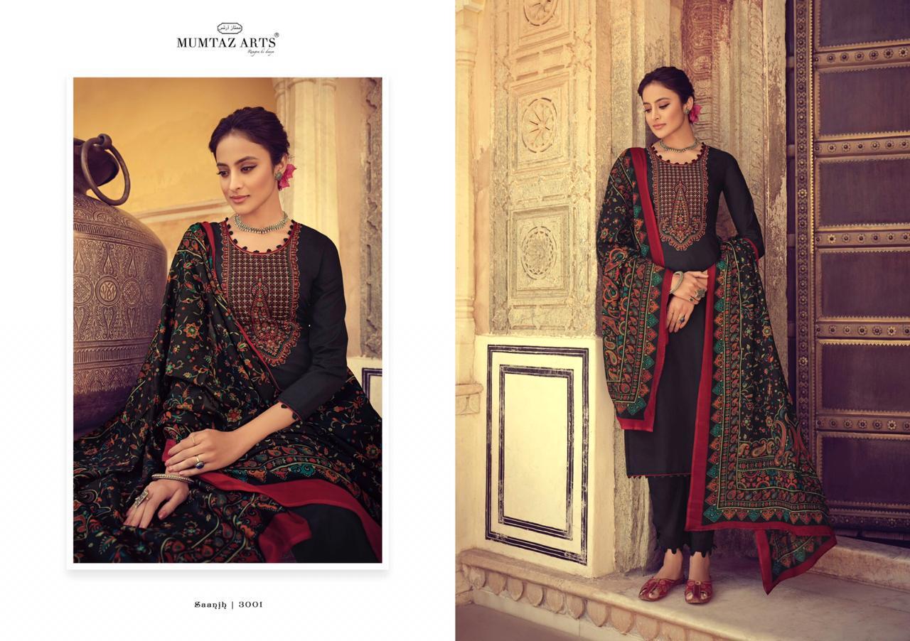 Mumtaz Arts Saanjh Black Hit Salwar Suit Wholesale Catalog 3 Pcs 2 - Mumtaz Arts Saanjh Black Hit Salwar Suit Wholesale Catalog 3 Pcs