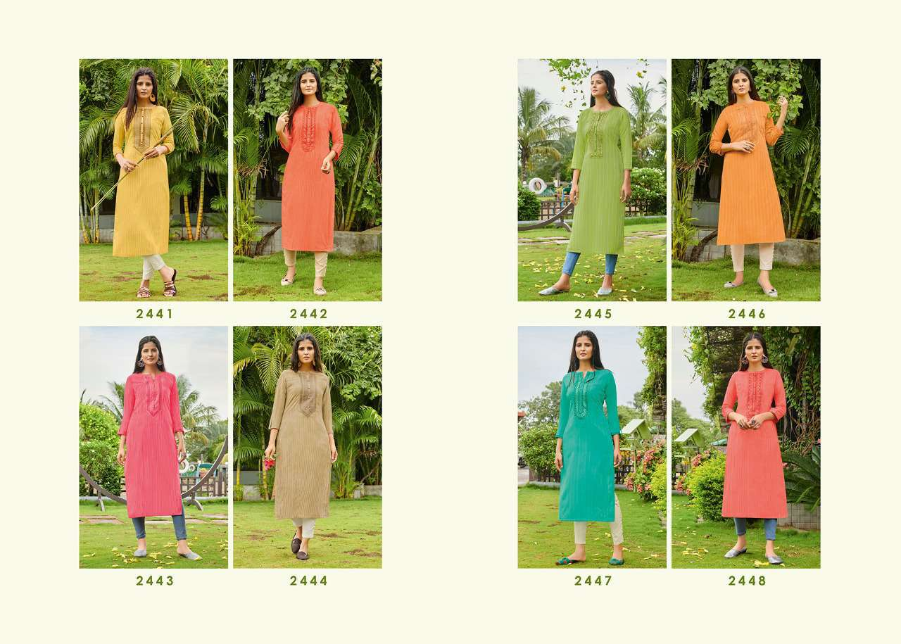 Rangoon Light Line Kurti by Kessi Wholesale Catalog 8 Pcs 11SF - Rangoon Light Line Kurti by Kessi Wholesale Catalog 8 Pcs