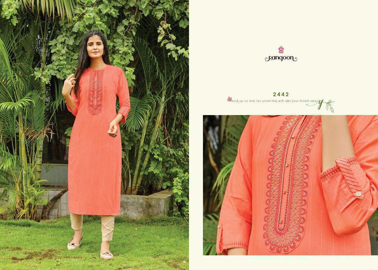 Rangoon Light Line Kurti by Kessi Wholesale Catalog 8 Pcs 2SF - Rangoon Light Line Kurti by Kessi Wholesale Catalog 8 Pcs