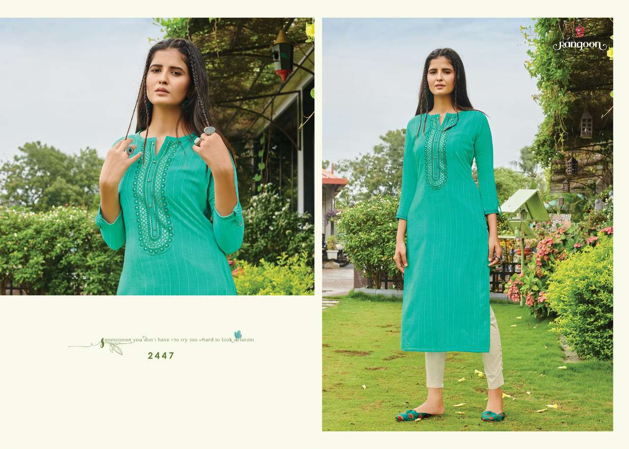 Rangoon Light Line Kurti by Kessi Wholesale Catalog 8 Pcs 3SF - Rangoon Light Line Kurti by Kessi Wholesale Catalog 8 Pcs