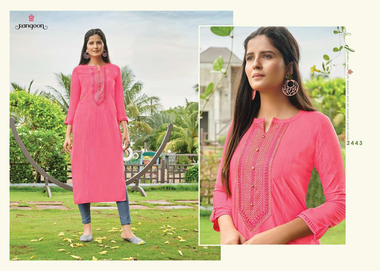 Rangoon Light Line Kurti by Kessi Wholesale Catalog 8 Pcs 5SF - Rangoon Light Line Kurti by Kessi Wholesale Catalog 8 Pcs