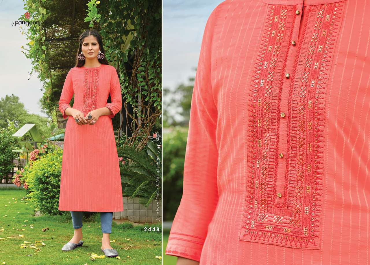 Rangoon Light Line Kurti by Kessi Wholesale Catalog 8 Pcs 8SF - Rangoon Light Line Kurti by Kessi Wholesale Catalog 8 Pcs